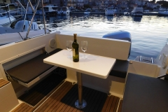 romantic evening on taxi boat