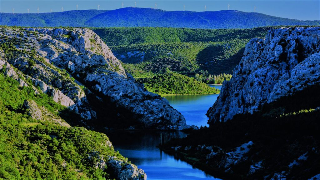 canyon of the river Krka